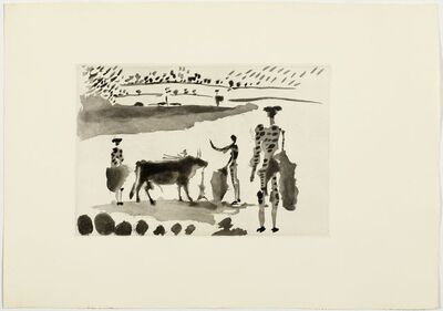 Pablo Picasso, 'Los Cabestros retiran al Toro Manso', 1957