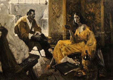 Benton Clark, 'Sculptor and His Model'
