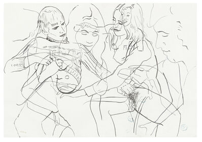 Sigmar Polke, 'Figurenstudie / Figure Study', 1973