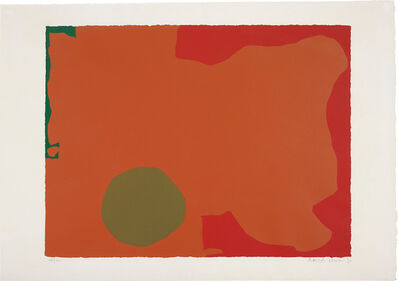 Patrick Heron, 'Umber Disk and Red Edge', 1970