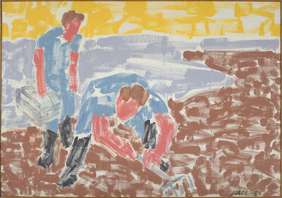 Stephen Pace, 'Two Clamdiggers, Yellow Sunset (93-4)', 1993
