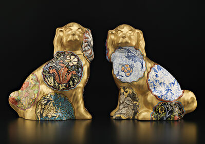Stephen Bowers, 'Pair of Camouflage Dogs (William Morris)', 2015