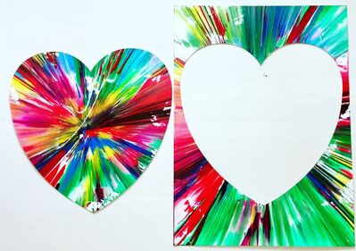 Damien Hirst, 'Heart Spin painting dip tych', 2009