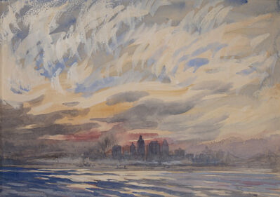 Joseph Pennell, 'Returning from Staten Island (View of Lower Manhattan)', ca. 1920