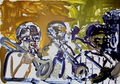 Romare Bearden, 'Brass Section, Jamming at Minton's (From the Jazz Series)', 1979