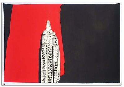 Marz Junior, 'NYC Empire State Building-Red Horizontal ', 2019