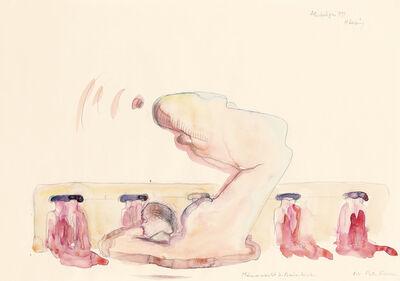 Maria Lassnig, 'Männermacht and Frauenleiden', 1991