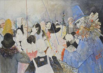 Jean Jansem, 'Le pierrot bleu', 1990