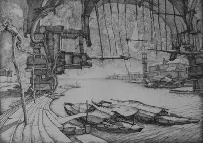 Erik Desmazières, 'L'Embarcadère', 1974