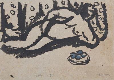 Marc Chagall, 'Nu allongé à la coupe de fruits', 1911