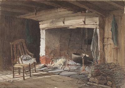 Harry Fenn, 'Old Fireplace', 1845-1911