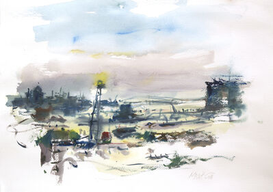 Raoul Middleman, 'Harbor Morning', 2018