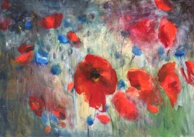 "Olga Gorokhova, '""Poppies and cornflowers""', 2016"