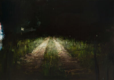Alex Kanevsky, 'Road with Headlights', 2019