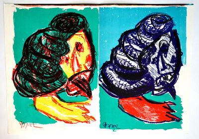 """Karel Appel, '""""Untitled"""": Double Lithograph (from One Cent Life)', 1964"""