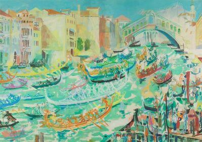 Fulvio Bianconi, 'Regatta on Canal Grande', 1960 ca