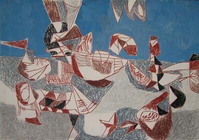 Wim Kersten, 'French fishing port and beach', ca. 1953