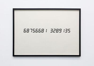 Tatsuo Miyajima, 'Life Face Vol. 3 6875668...', 1991