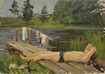 """Nadezhda Eliseevna Chernikova, 'Sketch """"Northern neighbor""""', 1963"""