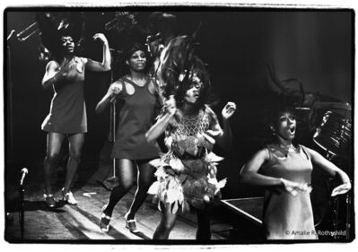 Amalie R. Rothschild, Jr., 'Tina and the Ikettes at Filmore East, January 10, 1970', 1970