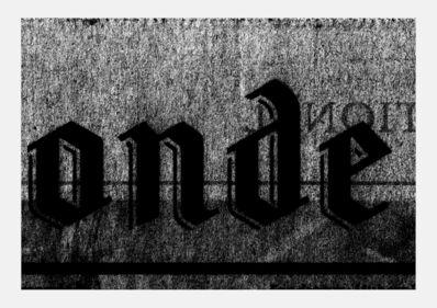 Alain Huck, 'Le Monde 3 novembre 2015', 2016