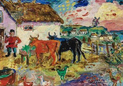 David Burliuk, 'Farm Scene'