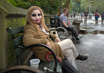 Neil O. Lawner, 'Lady With Makeup, Central Park'