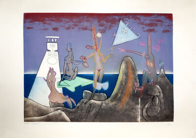 Roberto Matta, '4 AM from L'Arc Obscure des Heures', 1975