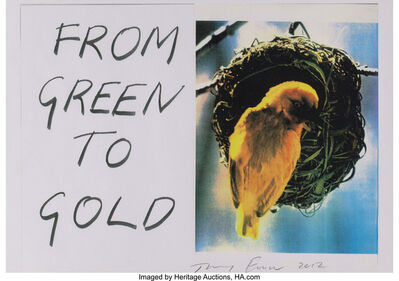 Tracey Emin, 'From Green to Gold', 2012