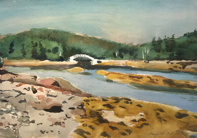 Fairfield Porter, 'Cove Bridge', ca. 1965