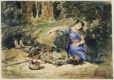 Eugène Delacroix, 'The Death of Lara', 1824