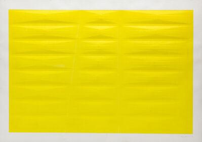 Agostino Bonalumi, 'Yellow', 1985