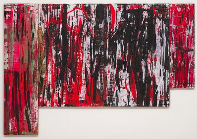 Ed Moses, 'Red W-L', 1982