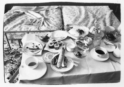 Andy Warhol, 'Andy Warhol, Photograph of a Room Service Tray in Paris, 1980', 1980