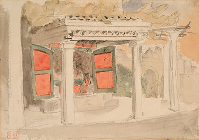 Eugène Delacroix, 'Interior of a Moroccan House', 1832
