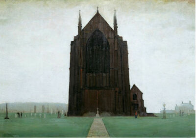 Laurence Stephen Lowry, 'St Augustine's Church, Pendlebury', 1924