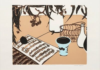 Cressida Campbell, 'Music in the kitchen', 1994