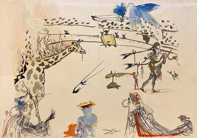 Salvador Dalí, 'The Burning Giraffe', 1973