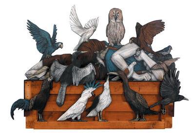 Levalet, 'Birds lament', 2017