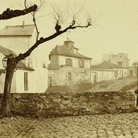 Charles Marville, 'The Impasse de l'Essai at the Horse Market, Paris', 1865