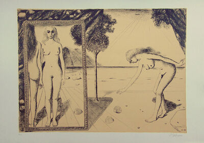 Paul Delvaux, 'The Beach', 1972