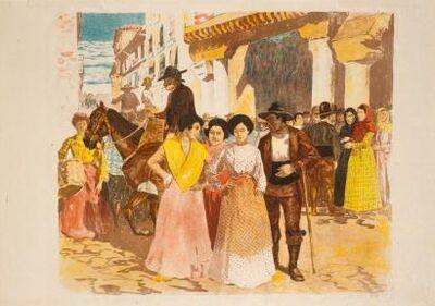 Alexandre Lunois, 'Une rue à Burgos', 1897