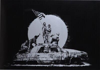 Banksy, 'Flag(Silver)', 2006