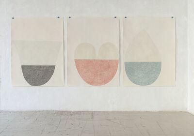 Sabine Finkenauer, 'Untitled (triptych)', 2017