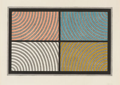 Sol LeWitt, 'Arcs From Four Corners (Krakow 1986.01)', 1986