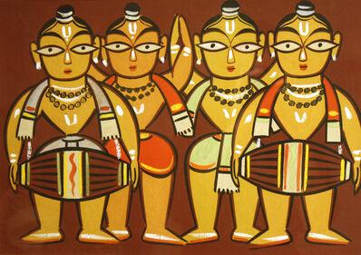 Jamini Roy, 'Four Drummers'