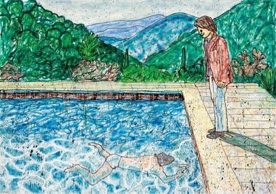 MADSAKI, 'Portrait of an Artist (Pool with Two Figures) Ⅱ (inspired by David Hockney)', 2020
