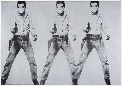Andy Warhol, 'Triple Elvis [Ferus type]', 1963