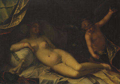 Abraham Bloemaert, 'A mythological scene, perhaps Venus and Cupid'