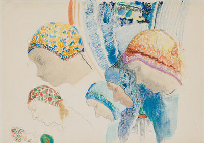 Odilon Redon, 'Profils de Hollandaises', 1840-1916